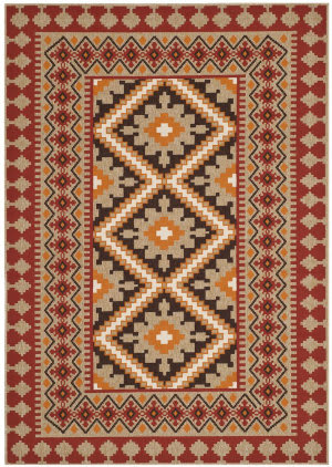 Safavieh Veranda VER099-0334 Red / Natural Area Rug