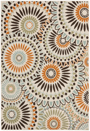 Safavieh Veranda Ver091-712 Cream / Chocolate Area Rug