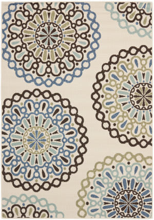 Safavieh Veranda Ver092-615 Cream / Blue Area Rug
