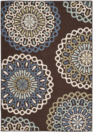 Safavieh Veranda Ver092 Chocolate - Blue Area Rug