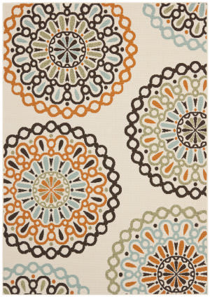 Safavieh Veranda Ver092-715 Cream / Terracotta Area Rug