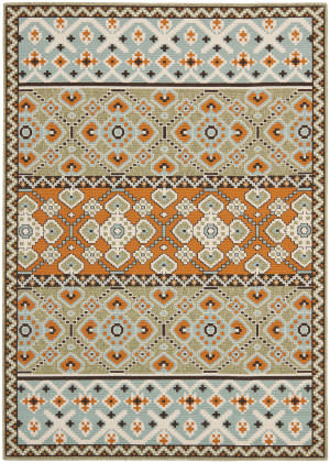 Safavieh Veranda Ver093-742 Green / Terracotta Area Rug