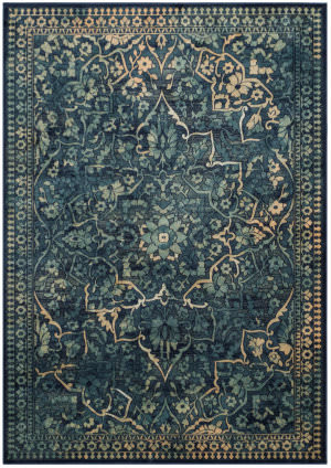 Safavieh Vintage Vtg175 Blue - Yellow Area Rug