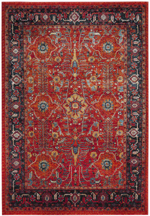 Safavieh Vintage Hamadan Vth220c Orange - Navy Area Rug