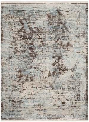 Safavieh Vintage Persian Vtp417t Brown - Light Blue Area Rug