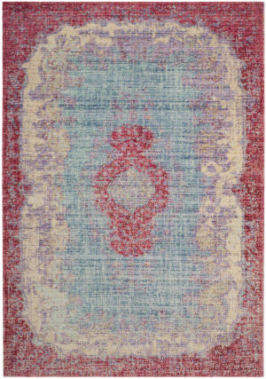 Safavieh Windsor Wds305a Light Blue - Fuchsia Area Rug