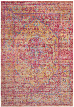Safavieh Windsor Wds307b Gold - Fuchsia Area Rug