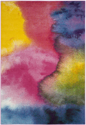 Safavieh Water Color Wtc621c Green - Fuchsia Area Rug