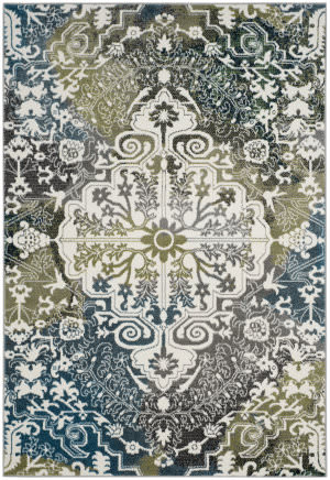 Safavieh Water Color Wtc669b Ivory - Peacock Blue Area Rug