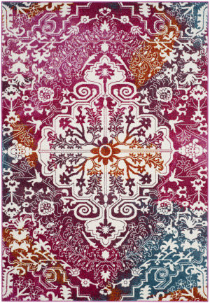 Safavieh Water Color Wtc669f Ivory - Fuchsia Area Rug