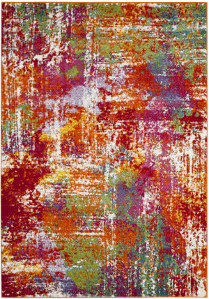 Safavieh Water Color Wtc695d Orange - Green Area Rug