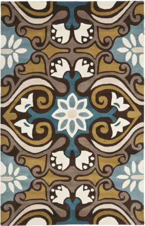 Safavieh Wyndham Wyd327a Blue / Multi Area Rug