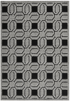 Safavieh York Yrk1670 Grey - Black Area Rug