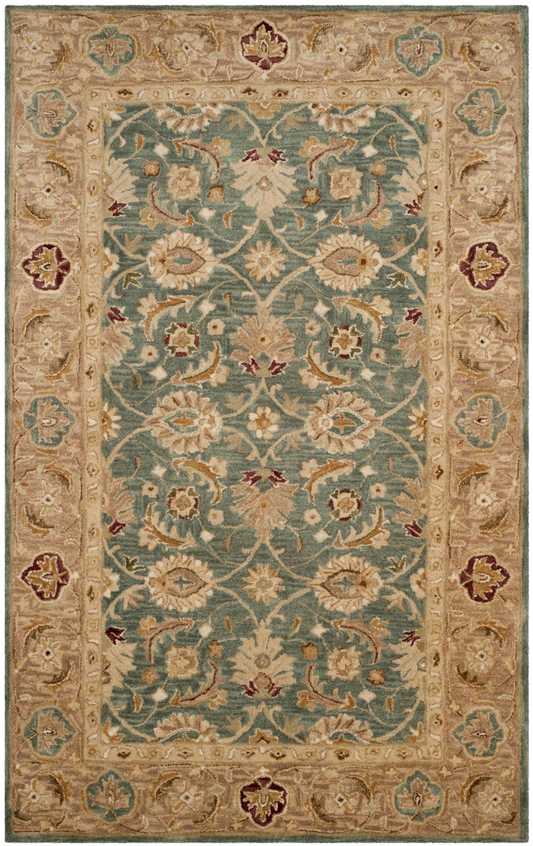 Safavieh Antiquity At849b Teal Blue Taupe Rug Studio