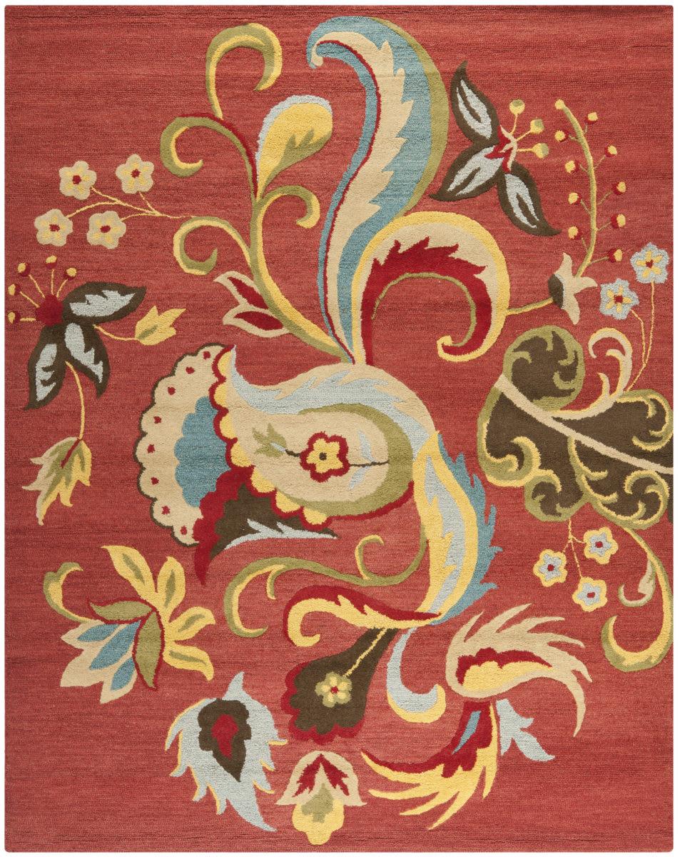Safavieh Blossom RUST MULTI Area Rug BLM680B