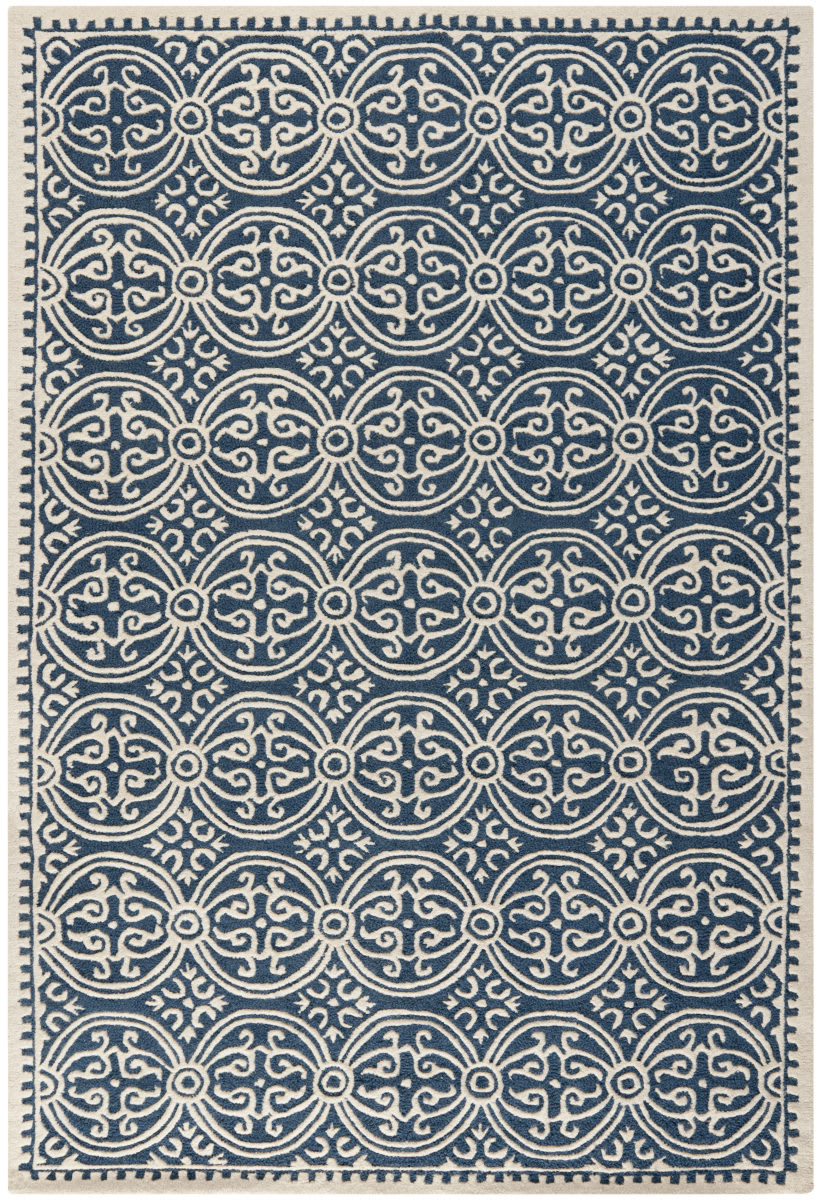 Safavieh Cambridge Cam123g Navy Blue Ivory Rug Studio