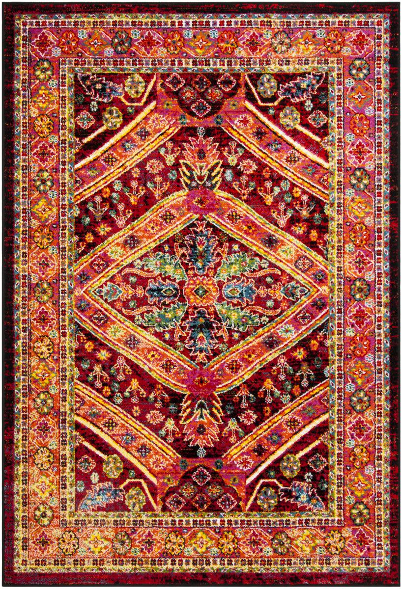 Safavieh Cherokee Chr921z Black Light Orange Rug Studio