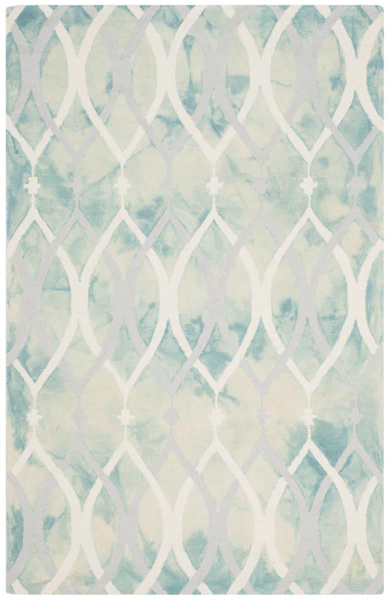 Safavieh Dip Dyed Ddy534q Green Ivory Grey Rug Studio