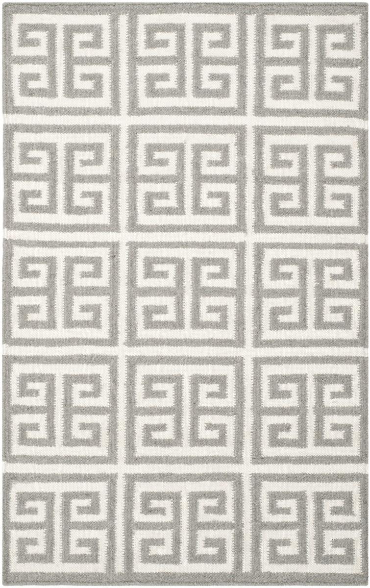 Safavieh Dhurries Dhu626b Grey Ivory Rug Studio