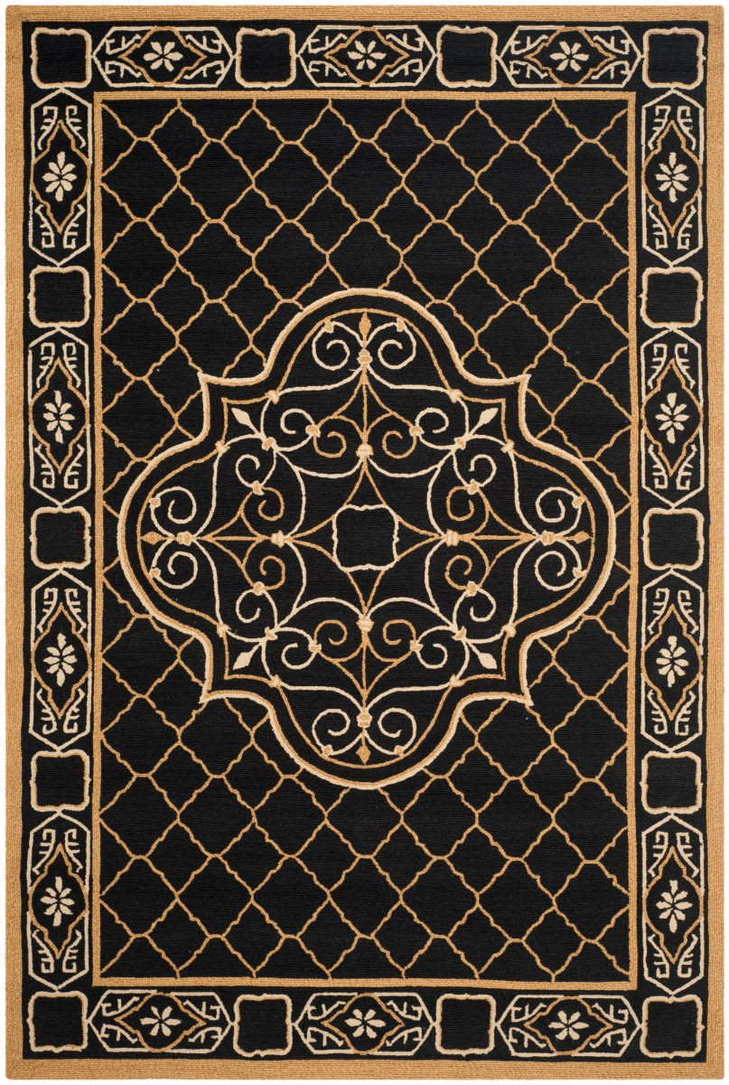 Safavieh Durarug Ezc729d Black Gold Area Rug 155225