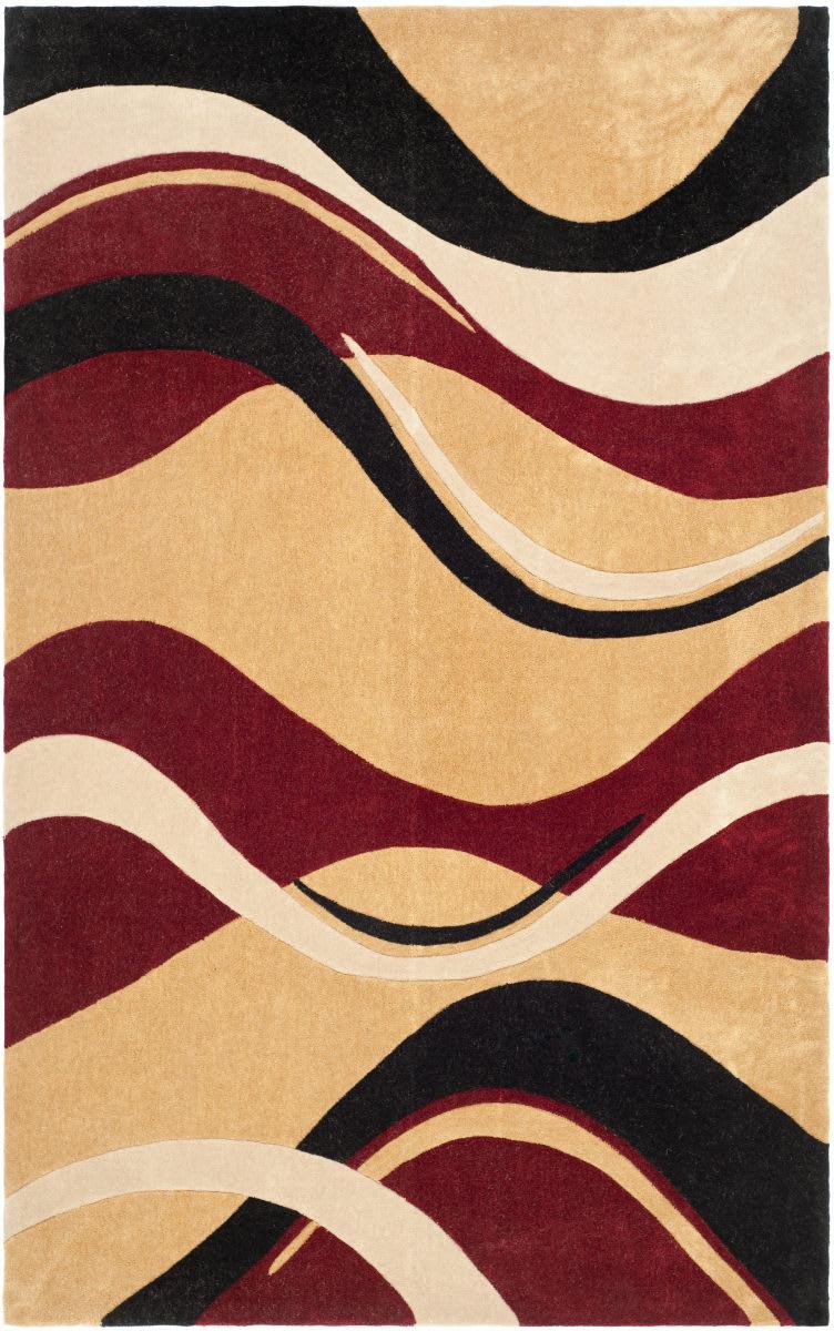Safavieh Modern Art Mda617b Rust Ivory Rug Studio