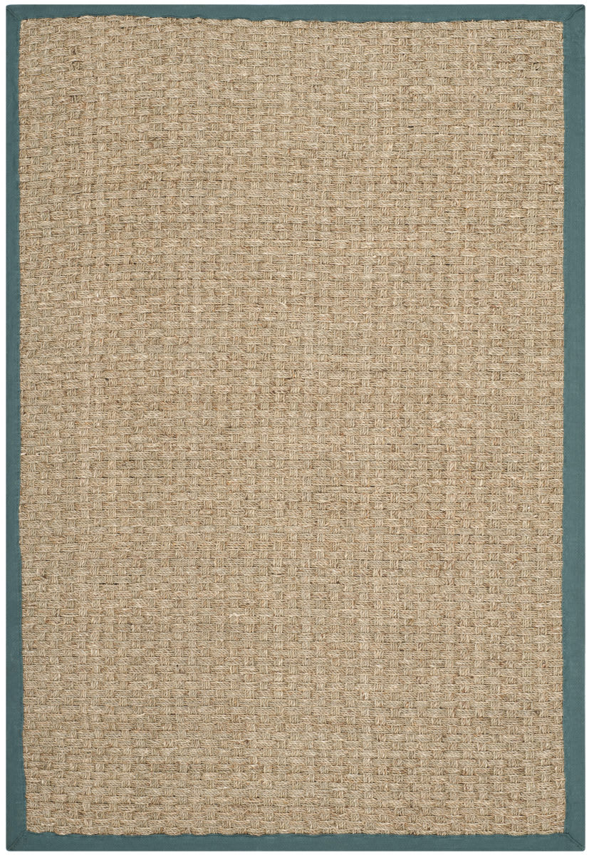 Safavieh Natural Fiber Nf114m Natural Light Blue Rug