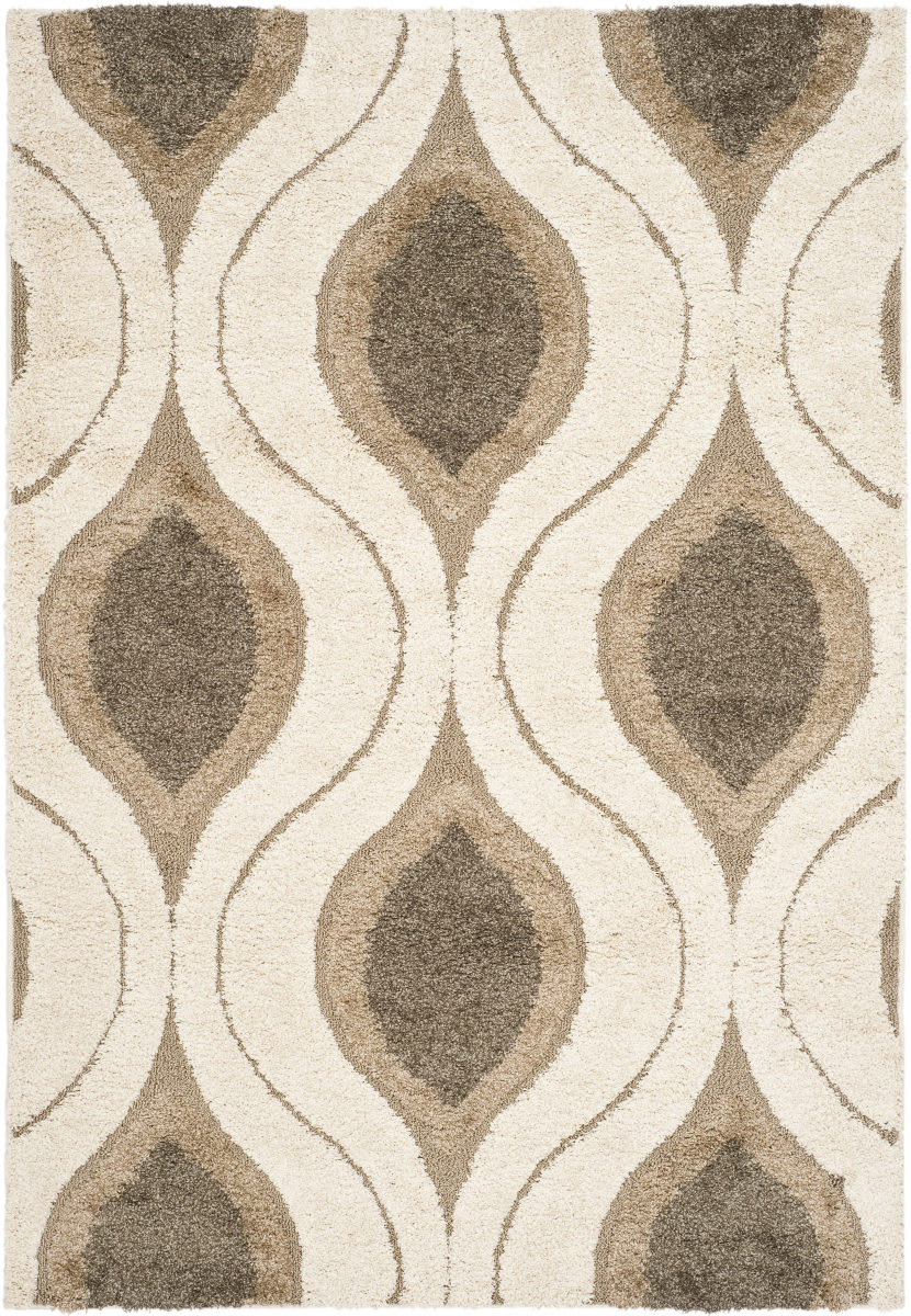 Safavieh Florida Shag Sg461 1179 Cream Smoke Area Rug