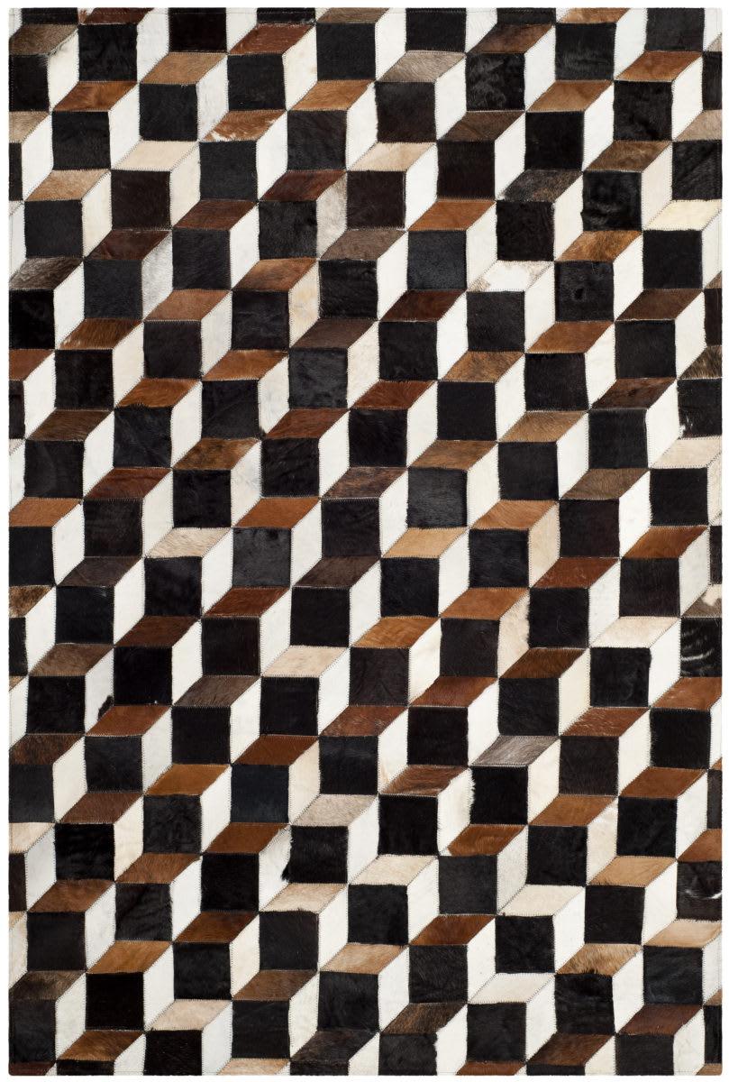 Safavieh Studio Leather Stl511a Brown Ivory Rug Studio