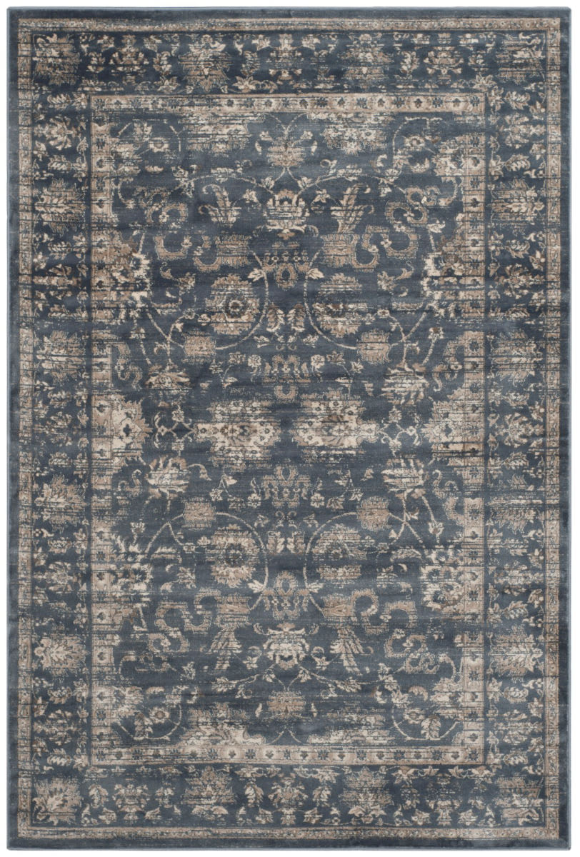 Safavieh Vintage Vtg442g Dark Blue Cream Rug Studio