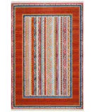 Safavieh Bokhara Bok138p Orange - Blue Area Rug