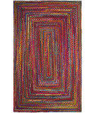 Safavieh Braided Brd210a Red - Multi Area Rug