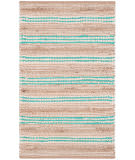 Safavieh Cape Cod Cap862j Natural - Turquoise Area Rug