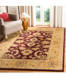 Safavieh Classic CL244A Burgundy - Gold Area Rug