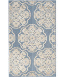 Safavieh Cottage Cot911f Light Blue - Beige Area Rug