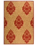Safavieh Courtyard Cy2714-3701 Beige / Red Area Rug