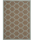 Safavieh Courtyard Cy6009 Brown - Aqua Area Rug