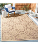Safavieh Courtyard CYS6204-219 Cream - Light Chocolate Area Rug