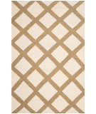 Safavieh Dhurries Dhu109a Ivory - Gold Area Rug