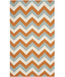 Safavieh Dhurries Dhu640c Terracotta / Blue Area Rug