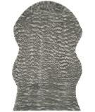 Safavieh Faux Sheep Skin Fss118b Dark Grey Area Rug