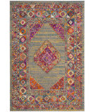 Safavieh Madison Mad133g Light Grey - Fuchsia Area Rug