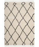 Safavieh Moroccan Fringe Shag Mfg241b Cream - Charcoal Area Rug