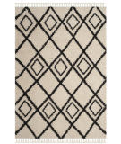 Safavieh Moroccan Fringe Shag Mfg244b Cream - Charcoal Area Rug