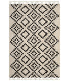 Safavieh Moroccan Fringe Shag Mfg245b Cream - Charcoal Area Rug