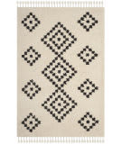 Safavieh Moroccan Fringe Shag Mfg246b Cream - Charcoal Area Rug