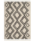 Safavieh Moroccan Fringe Shag Mfg247b Cream - Charcoal Area Rug