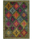 Safavieh Monaco Mnc244g Green - Multi Area Rug