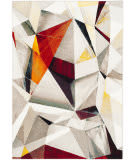 Safavieh Porcello Prl6940f Light Grey - Orange Area Rug