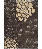 Safavieh Florida Shag Sg456-2880 Dark Brown / Grey Area Rug
