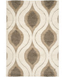 Safavieh Florida Shag Sg461-1179 Cream / Smoke Area Rug